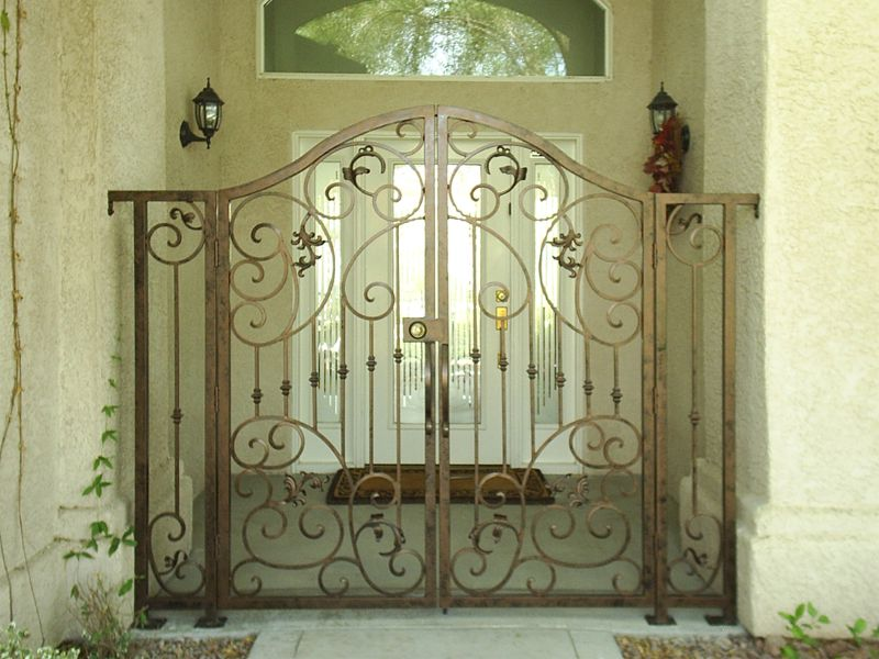 Scrollwork Courtyard & Entryway Gates CE0303 Wrought Iron Design In Las Vegas