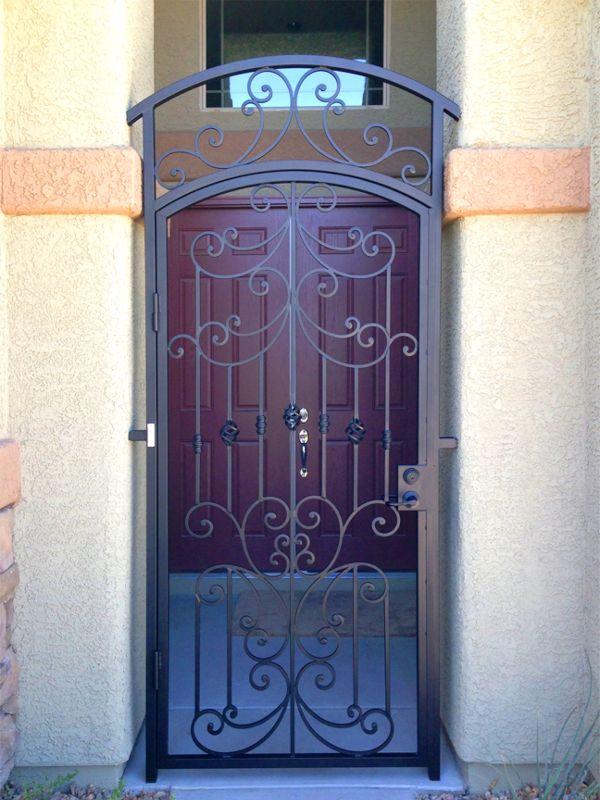 Scrollwork Courtyard & Entryway Gates CE0313 Wrought Iron Design In Las Vegas