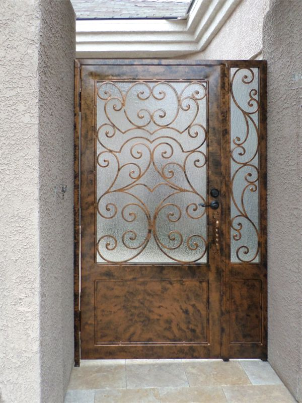 Scrollwork Courtyard & Entryway Gates CE0316 Wrought Iron Design In Las Vegas