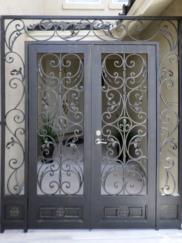 Scrollwork Courtyard & Entryway Gates CE0139 Wrought Iron Design In Las Vegas