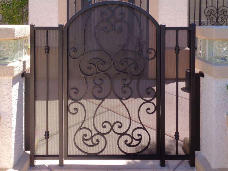 Scrollwork Courtyard & Entryway Gates CE0331A Wrought Iron Design In Las Vegas