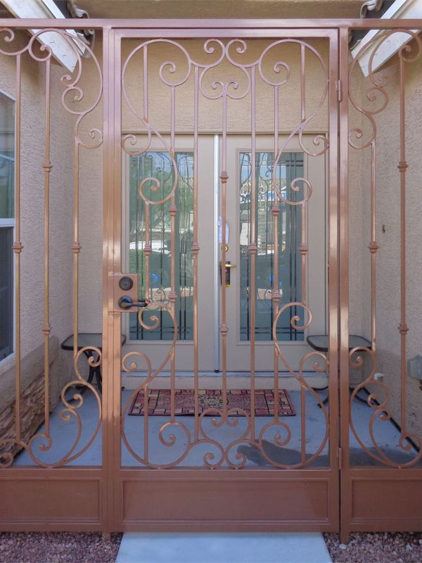 Scrollwork Courtyard & Entryway Gates CE0344 Wrought Iron Design In Las Vegas
