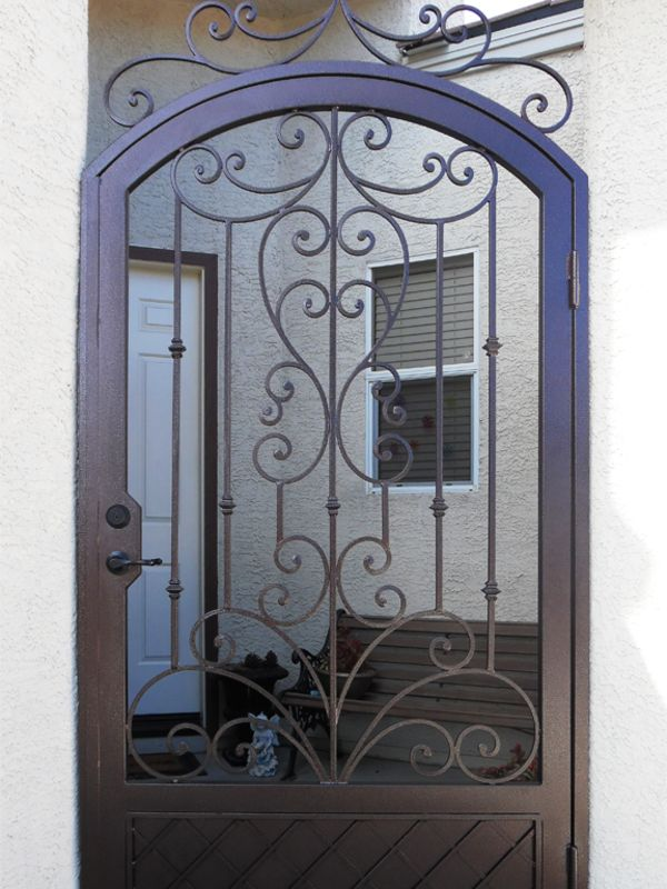 Scrollwork Courtyard & Entryway Gates CE0358 Wrought Iron Design In Las Vegas