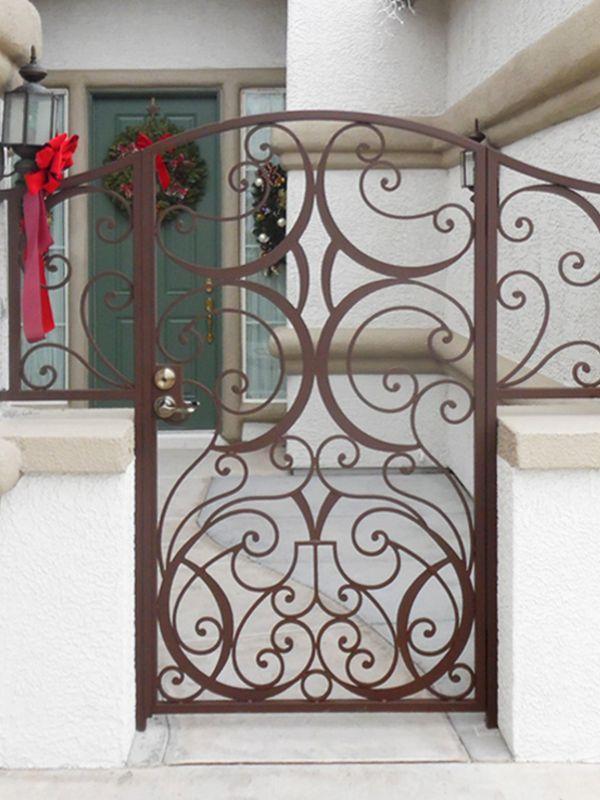 Scrollwork Courtyard & Entryway Gates CE0359 Wrought Iron Design In Las Vegas
