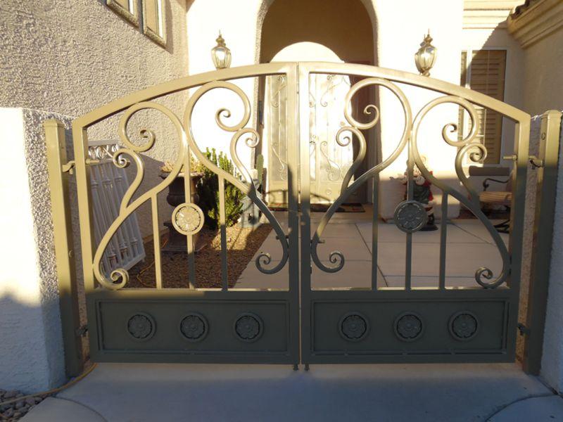 Scrollwork Courtyard & Entryway Gates CE0362 Wrought Iron Design In Las Vegas