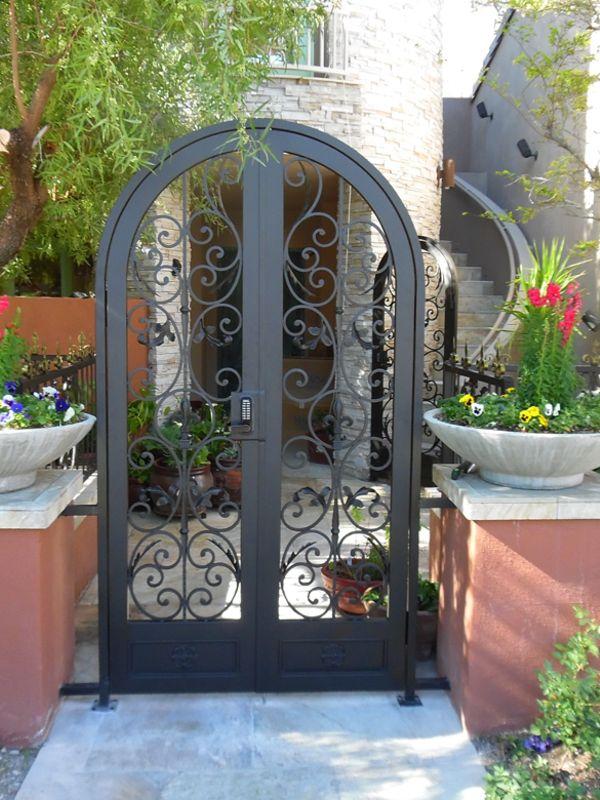 Scrollwork Courtyard & Entryway Gates CE0375 Wrought Iron Design In Las Vegas
