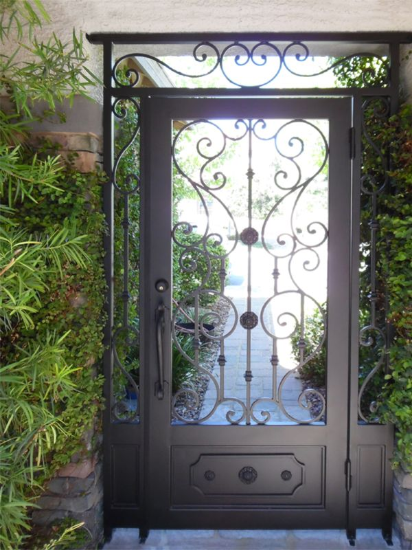 Scrollwork Courtyard & Entryway Gates CE0378 Wrought Iron Design In Las Vegas