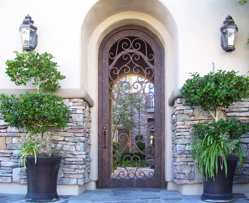 Scrollwork Custom Archive Entryway Door - Item EW0035 Wrought Iron Design In Las Vegas