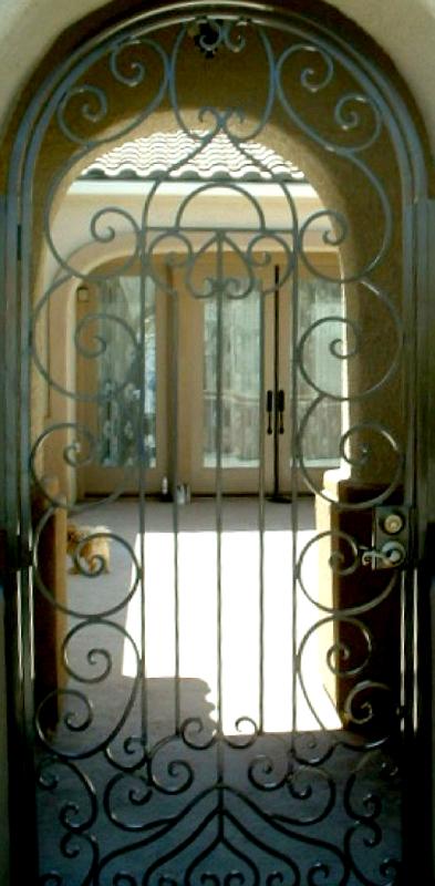 Scrollwork Custom Archive Entryway Door - Item EW0040 Wrought Iron Design In Las Vegas