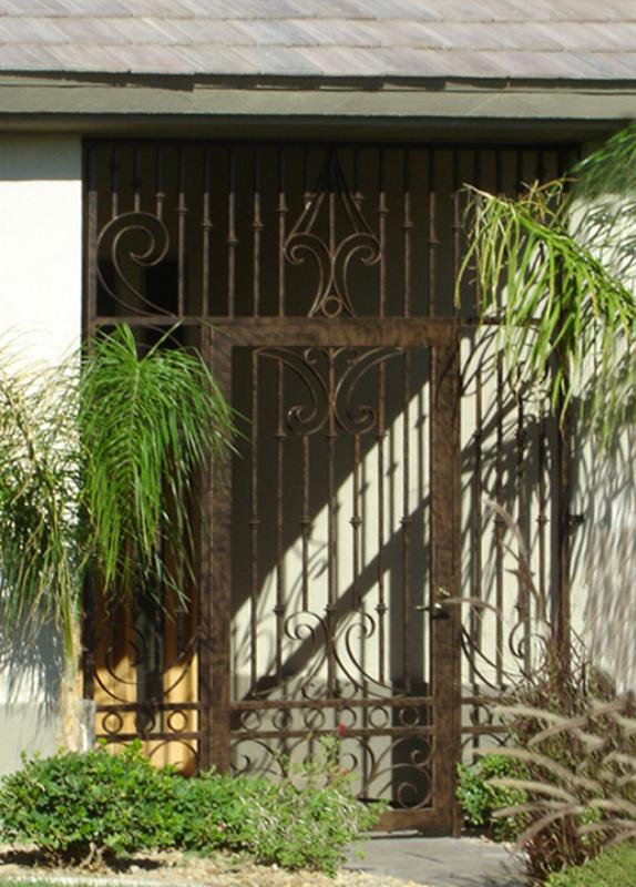Scrollwork Custom Archive Entryway Door - Item EW0075 Wrought Iron Design In Las Vegas
