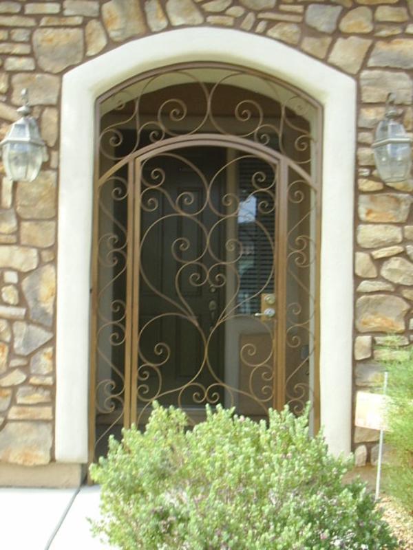 Scrollwork Custom Archive Entryway Door - Item EW0085 Wrought Iron Design In Las Vegas