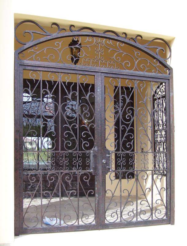 Scrollwork Custom Archive Entryway Door - Item EW0140 Wrought Iron Design In Las Vegas