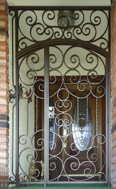 Scrollwork Custom Archive Entryway Door - Item EW0148 Wrought Iron Design In Las Vegas