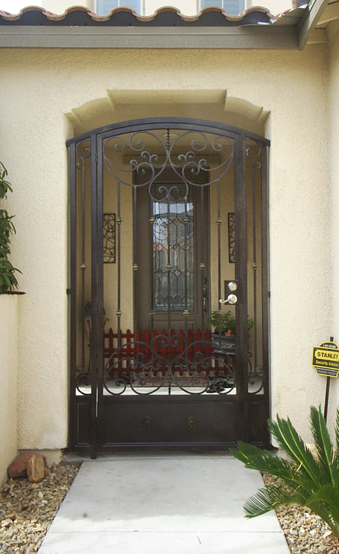 Scrollwork Custom Archive Entryway Door - Item EW0193 Wrought Iron Design In Las Vegas