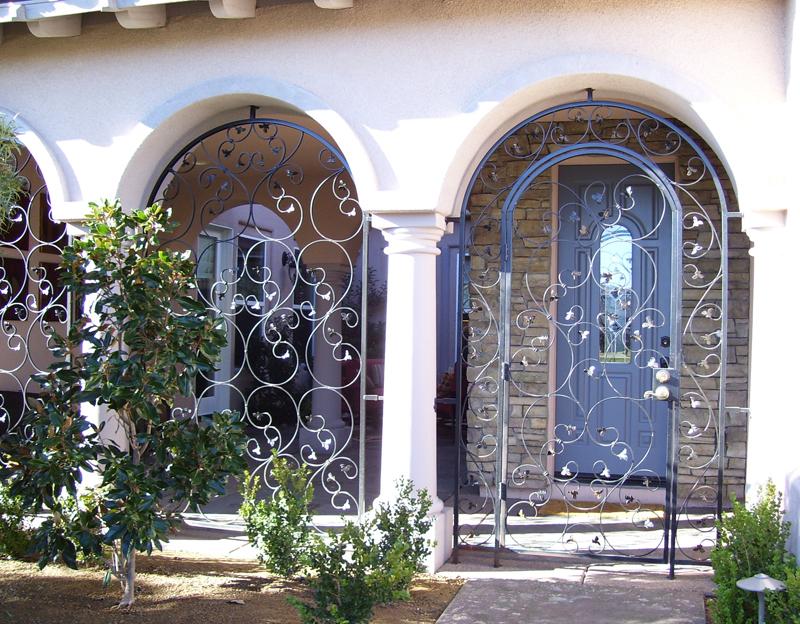 Scrollwork Custom Archive Entryway Door - Item EW0229 Wrought Iron Design In Las Vegas