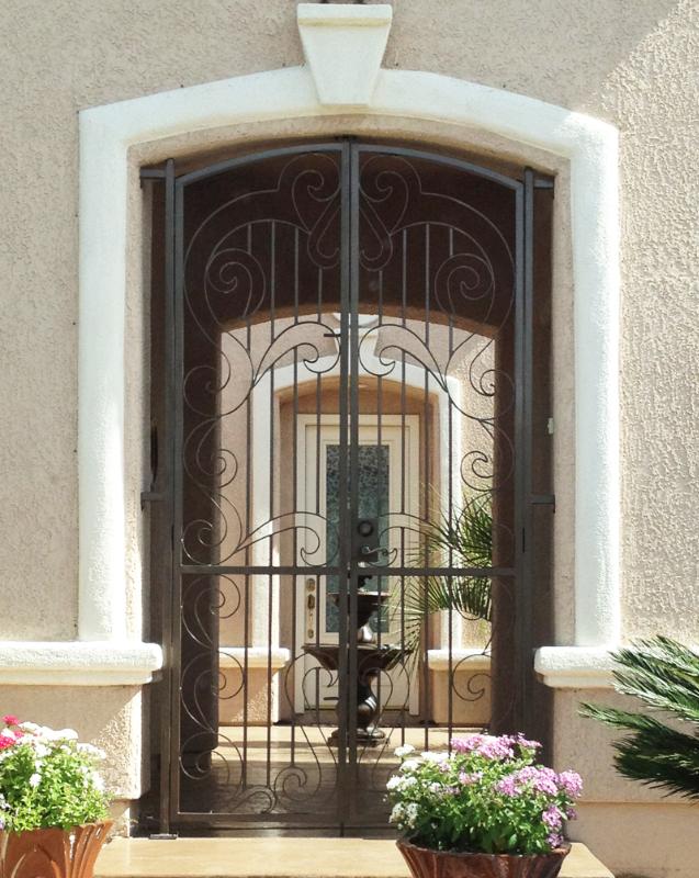 Scrollwork Custom Archive Entryway Door - Item EW0269 Wrought Iron Design In Las Vegas