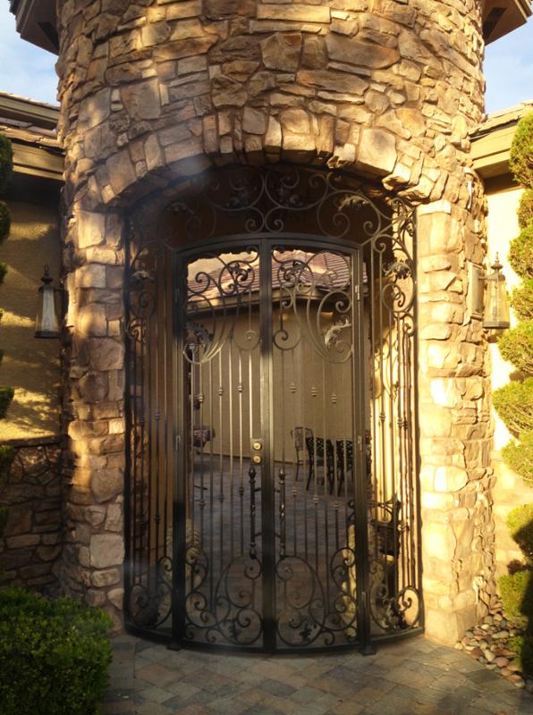 Scrollwork Custom Archive Entryway Door - Item EW0319 Wrought Iron Design In Las Vegas