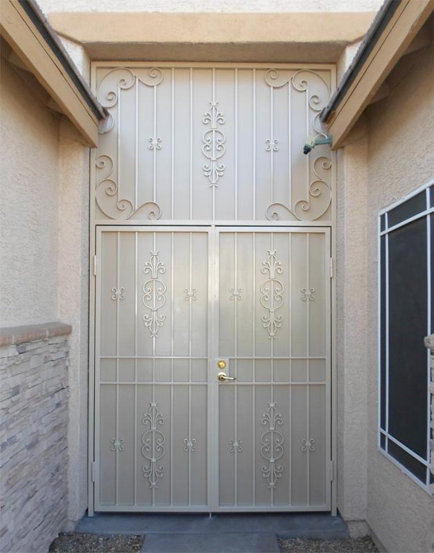 Scrollwork Custom Archive Entryway Door - Item EW0357 Wrought Iron Design In Las Vegas