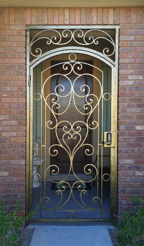 Scrollwork Custom Archive Entryway Door - Item EW0388 Wrought Iron Design In Las Vegas