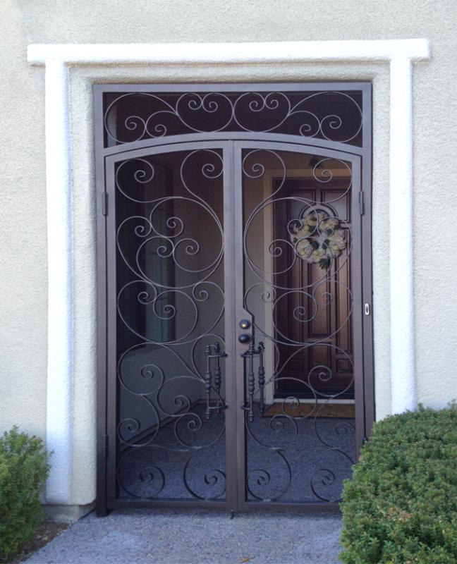 Scrollwork Custom Archive Entryway Door - Item EW0400 Wrought Iron Design In Las Vegas