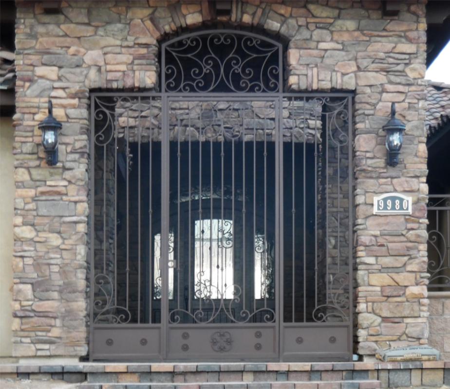 Scrollwork Custom Archive Entryway Door - Item EW0443 Wrought Iron Design In Las Vegas
