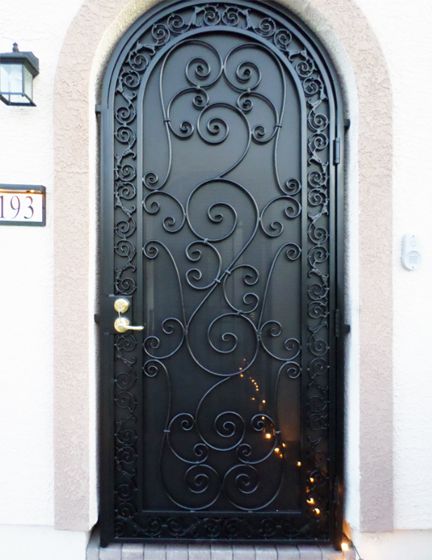Scrollwork Custom Archive Entryway Door - Item EW0507 Wrought Iron Design In Las Vegas