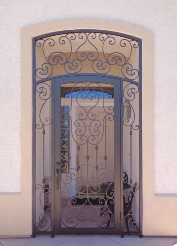 Scrollwork Custom Archive Entryway Door - Item EW0510 Wrought Iron Design In Las Vegas
