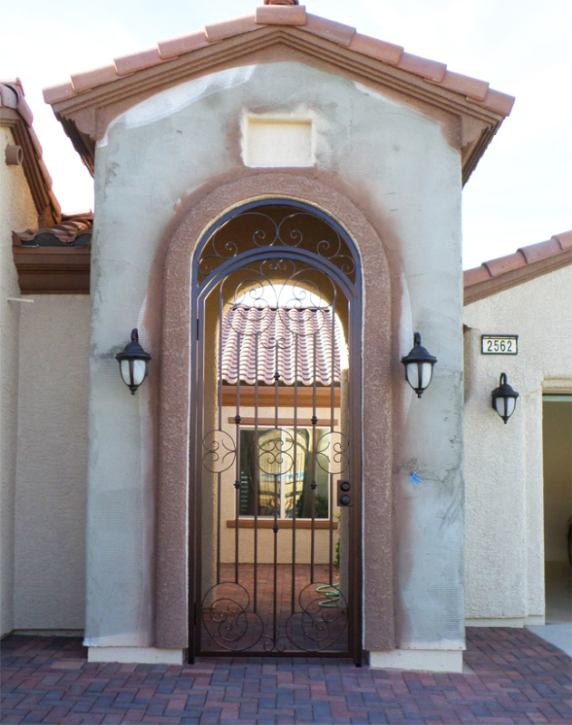 Scrollwork Custom Archive Entryway Door - Item EW0513 Wrought Iron Design In Las Vegas
