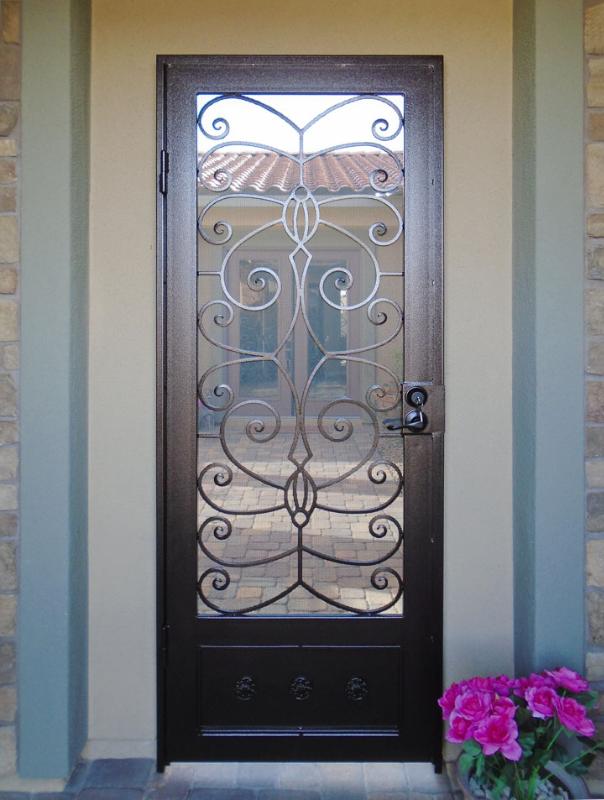 Scrollwork Custom Archive Entryway Door - Item EW0517 Wrought Iron Design In Las Vegas