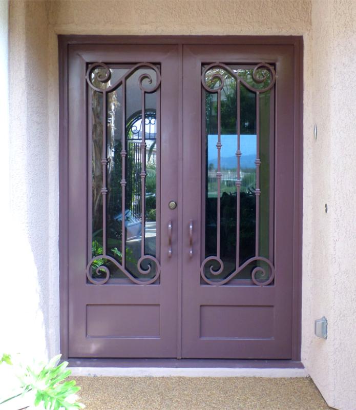 Scrollwork Custom Archive Front Door - Item GE0005 Wrought Iron Design In Las Vegas