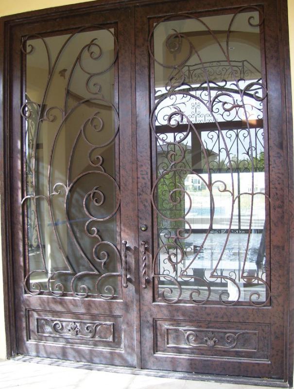 Scrollwork Custom Archive Front Door - Item GE0009 Wrought Iron Design In Las Vegas