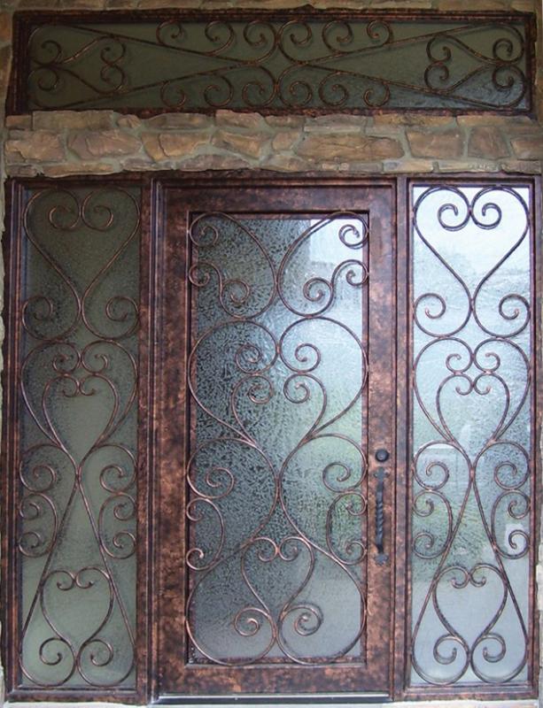 Scrollwork Custom Archive Front Door - Item GE0018 Wrought Iron Design In Las Vegas