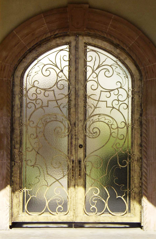 Scrollwork Custom Archive Front Door - Item GE0025 Wrought Iron Design In Las Vegas