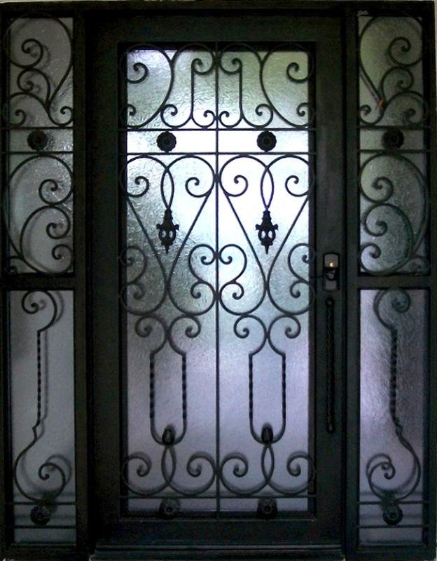 Scrollwork Custom Archive Front Door - Item GE0027 Wrought Iron Design In Las Vegas