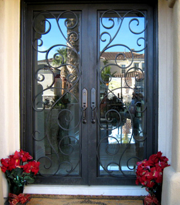Scrollwork Custom Archive Front Door - Item GE0042 Wrought Iron Design In Las Vegas