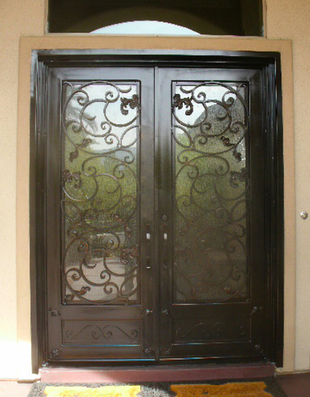 Scrollwork Custom Archive Front Door - Item GE0058 Wrought Iron Design In Las Vegas