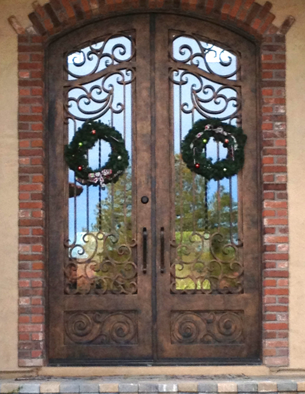 Scrollwork Custom Archive Front Door - Item GE0098A Wrought Iron Design In Las Vegas