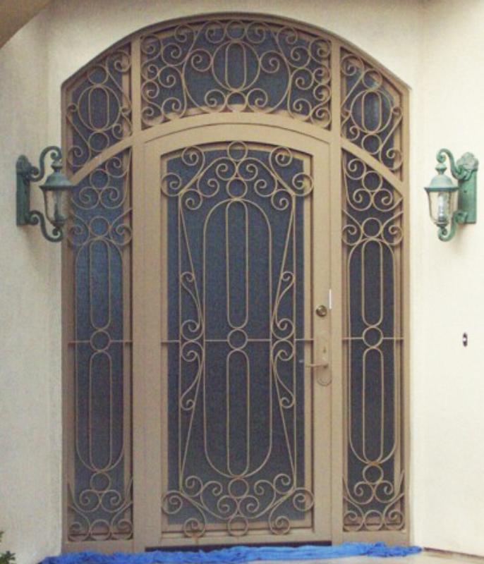 Scrollwork Custom Archive Front Door - Item GE0110 Wrought Iron Design In Las Vegas