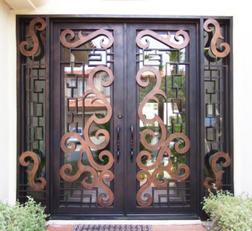 Scrollwork Custom Archive Front Door - Item GE0116 Wrought Iron Design In Las Vegas