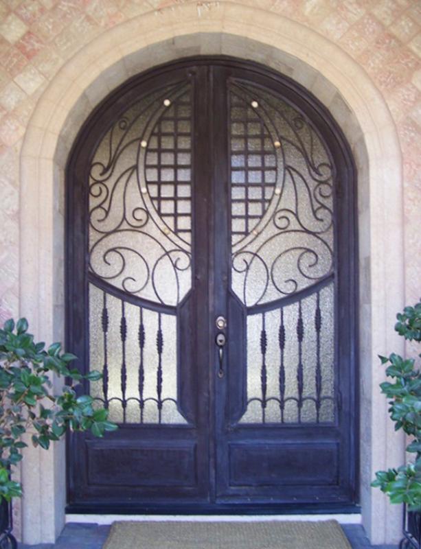Scrollwork Custom Archive Front Door - Item GE0118 Wrought Iron Design In Las Vegas