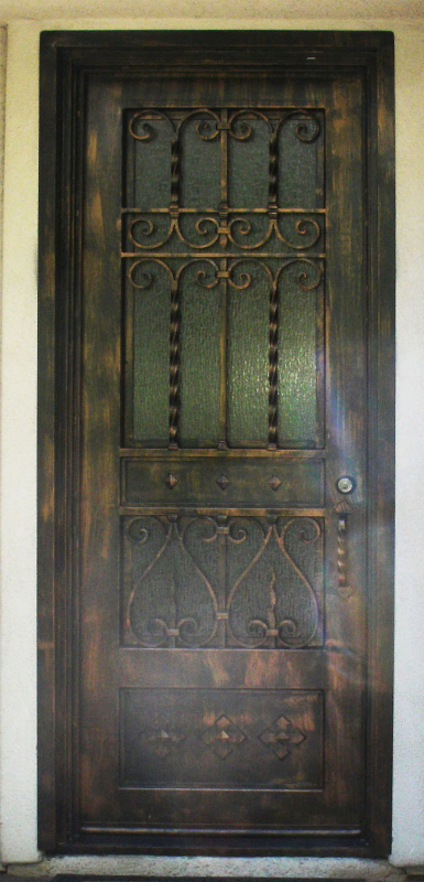 Scrollwork Custom Archive Front Door - Item GE0124 Wrought Iron Design In Las Vegas