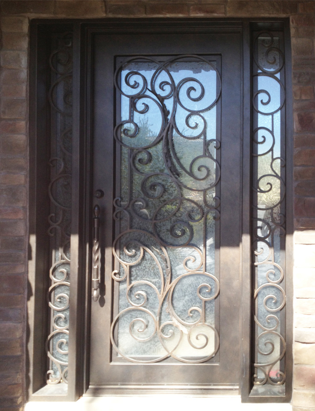 Scrollwork Custom Archive Front Door - Item GE0125 Wrought Iron Design In Las Vegas