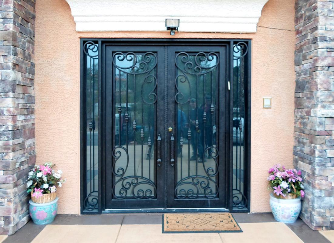 Scrollwork Custom Archive Front Door - Item GE0143 Wrought Iron Design In Las Vegas