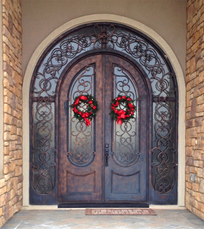 Scrollwork Custom Archive Front Door - Item GE0146 Wrought Iron Design In Las Vegas