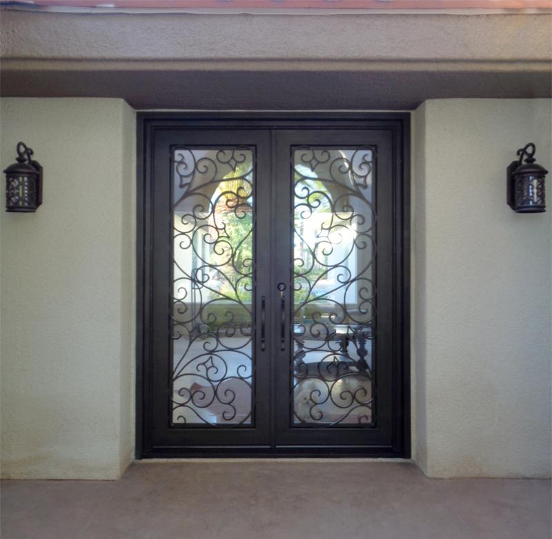 Scrollwork Custom Archive Front Door - Item GE0166 Wrought Iron Design In Las Vegas