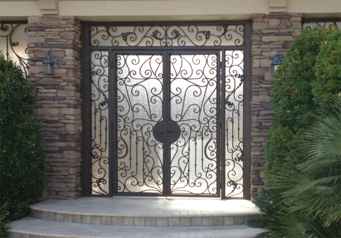 Scrollwork Custom Archive Front Door - Item GE0170 Wrought Iron Design In Las Vegas