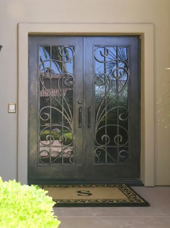 Scrollwork Custom Archive Front Door - Item GE0199 Wrought Iron Design In Las Vegas