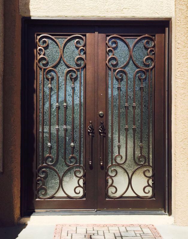 Scrollwork Custom Archive Front Door - Item GE0208 Wrought Iron Design In Las Vegas