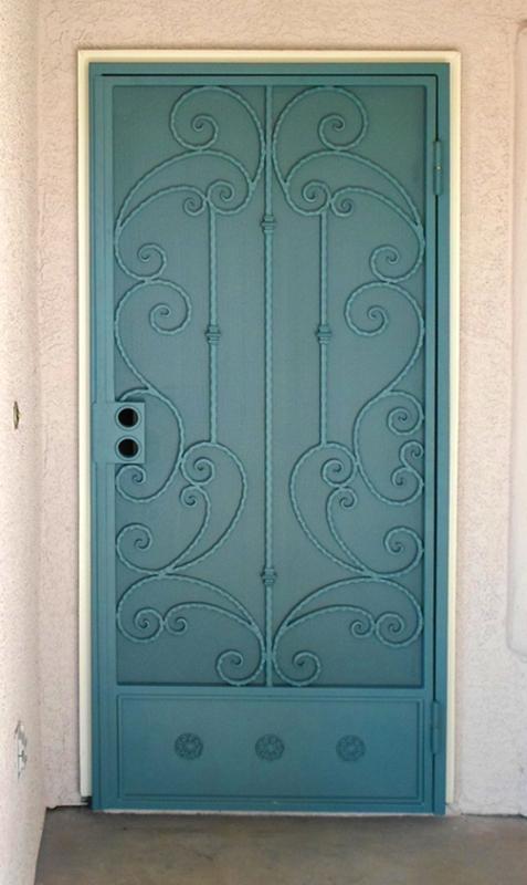 Scrollwork Custom Archive Security Door - Item SD0174 Wrought Iron Design In Las Vegas