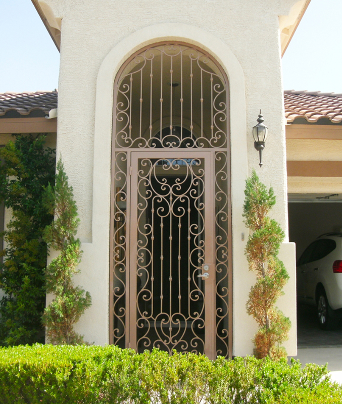 Scrollwork Duchess Entryway Door - Item EW0171 Wrought Iron Design In Las Vegas